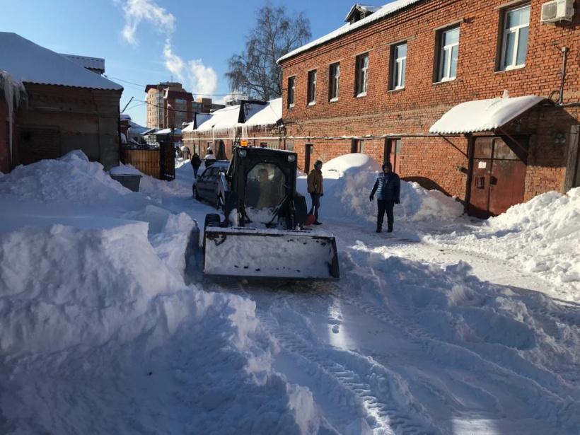 Уборка снега: помощь пришла сразу!